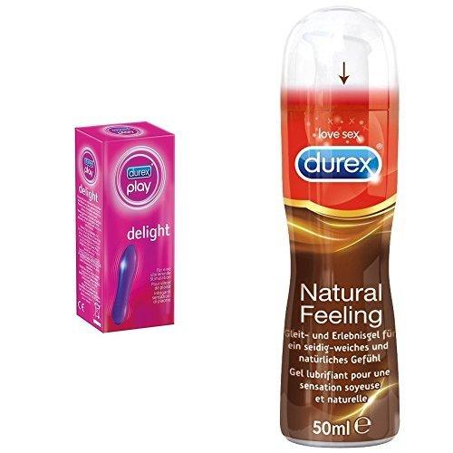 Durex Play Delight Minivibrator + Durex Natural Feeling Gleit- und Erlebnisgel, 50ml