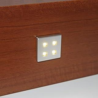 10 X SQUARE KITCHEN LED PLINTH LIGHT KIT WARM WHITE