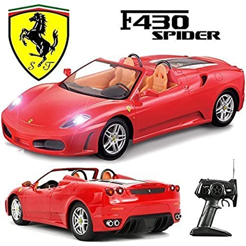 Comtechlogic® CM-2133 Official Licensed 1:14 Ferrari F430 Spider Radio Controlled RC Electric Car - Ready to Run EP RTR