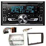 Kenwood DPX-7100DAB Bluetooth USB MP3 Autoradio iPhone iPod Doppel Din AOA 2.0 DAB+ Digitalradio Einbauset für FIAT Ducato Boxer Jumper