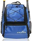 Athletico Youth Baseballschläger Tasche–Rucksack für Baseball, T & Softball Equipment & Gear für Mädchen & Jungen | mit Fledermaus, Helm, Handschuh | Zaun Haken