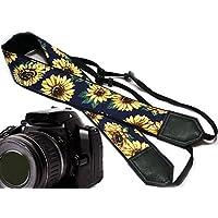 intepro Sunflower Design Kamera Strap. Gelb Blüten Kameragurt. Gelb Blumen DSLR/SLR Kamera Gurt. Robust, leichtes und gut gepolstert Kamera Strap. Code 00003