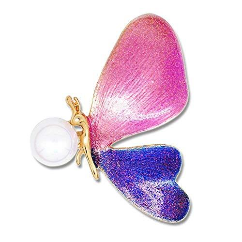 Olydmsky Bemalte Brosche Butterfly Brosche Damenbekleidung Zubehör Mädchen Kleidung Zubehör