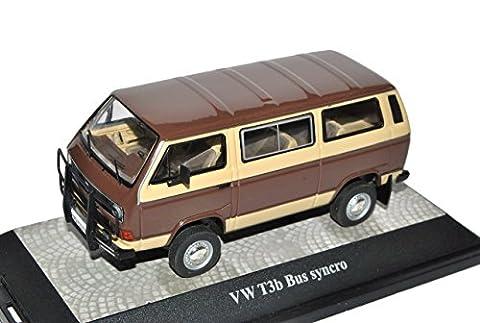 VW Volkswagen T3B Transporter Personen Syncro Caravelle 4x4 Braun Beige 1979-1992 1/43 Premium ClassiXXs Modell Auto mit individiuellem Wunschkennzeichen