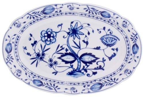 Kahla - Porcelaine pour les Sens 173306A72067U Rossella Zwiebelmuster Plat de Service Bleu 32 cm
