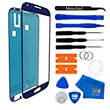 MMOBIEL Front Glas Reparatur Set für Samsung Galaxy S4 Mini i9190 i9195 Series (Blau) Display Touchscreen mit 11 tlg. Werkzeug-Set inkl passgenauem Klebe-Sticker/Pinzette / Saugnapf/Metall Draht/Tuch