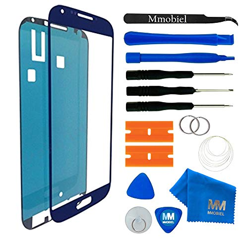MMOBIEL Front Glas Reparatur Set für Samsung Galaxy S4 Mini i9190 i9195 Series (Blau) Display Touchscreen mit Werkzeug-Set (Display S4 Mini)