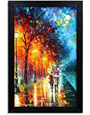 Home Attire beautiful abstract matte finish painting- Size-12x18 inches