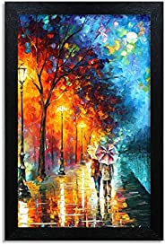 Home Attire HAP-1116 Colorful Abstract Painting, 12x18 inch