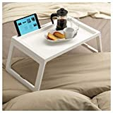 #2: Aagam Foldable Bed Tray Breakfast Laptop Tablet iPhone iPad Table-Multi Color