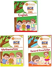 UKG Kids ACE All-in-One Early learning Worksheets for Kindergarten, Nursery Kids, Toddlers, Pre Schoolers 272 pages (KG 2) and Montessori (4-6 yrs) (English, Mathematics, General Knowledge / EVS & Fun Colouring Combo) loose leaf workbook from 3H Learning-2018