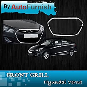 Autofurnish Front Grill Chrome For Hyundai Verna Fluidic
