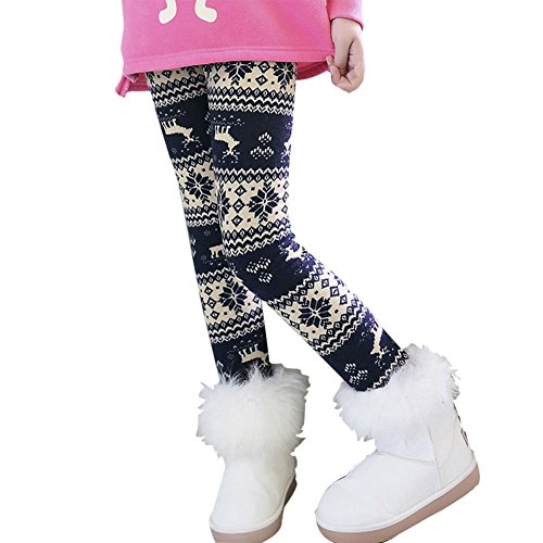 ESHOO Girls Winter Warm Thick Stretch Leggings Fleece Lined Pants Trousers