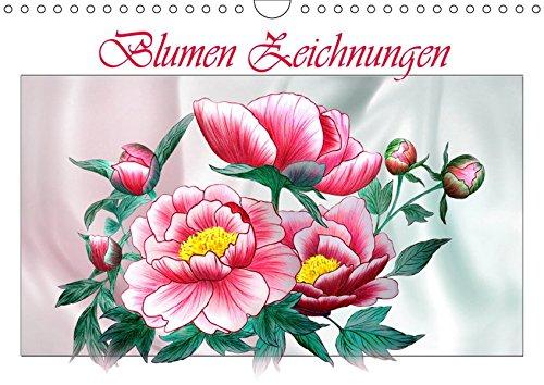 Blumen-Zeichnungen (Wandkalender 2019 DIN A4 quer): Blumenzeichnungen mit Aquarell-Buntstiften (Monatskalender, 14 Seiten ) (CALVENDO Natur)