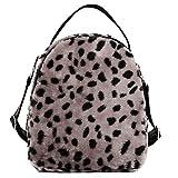 TianWlio Damen Klassische Handtasche Plüsch Rucksack Student Satchel Travel School Umhängetasche Handtasche Winged Schultertasche Groß Umhängetasche Taschen