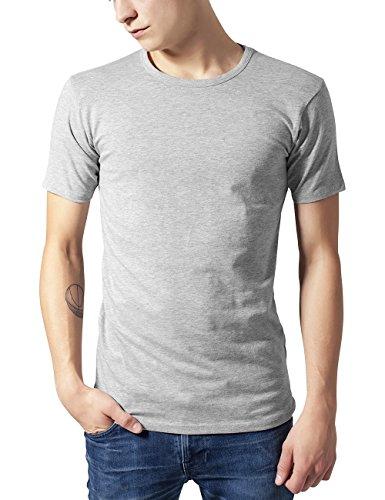 Urban Classic Herren T-Shirt Fitted Stretch Tee Grau (grey 111)