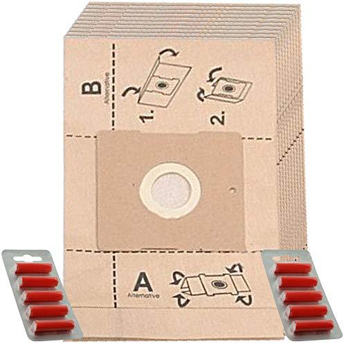 Spares2go - Bolsas de Polvo para aspiradora Russell Hobbs DALMATA (10 Unidades + ambientadores)