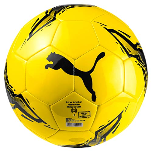 PUMA BVB Fan Ball Fußball, Black-Cyber Yellow, 5