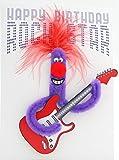 Pop Up Geburtstag ZZ Design Grußkarte PopShot Happy Birthday Rockstar Gitarre 13x18cm