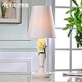 Dngy*Las telas de lujo de estilo europeo lámparas dormitorio cama moderna decoración elegante boda creativa de los cascos del caballo fina Lin , interruptor de botón de luz