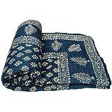 SVT Cotton Single Quilt Blanket (Multicolour)