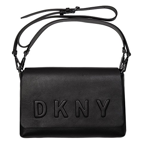 dkny-embossed-logo-femme-shoulder-bag-noir