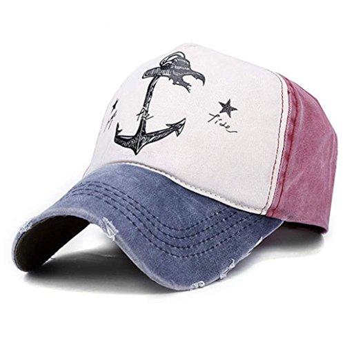 Ularma Baseball Cap Vintage Retro Outdoor Sports Mütze aus Baumwolle Einstellbar Mütze Cap für Herren und Frauen (blau) -