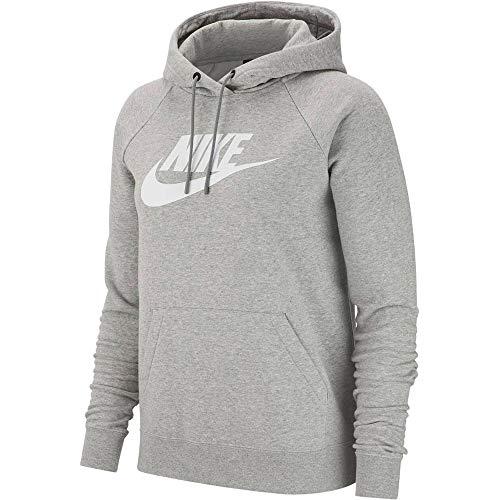 Nike Womens W NSW Essntl Hoodie Po Hbr Hooded Sweatshirt, Dark Grey - Hoodie Grau Nike Damen