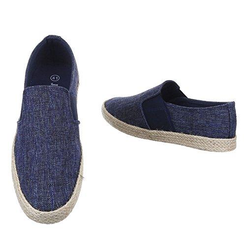 Ital-Design , chaussons dintérieur homme Bleu
