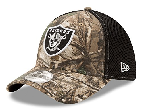 New Era Oakland Raiders NFL 39THIRTY Realtree Neo Flex Fit Hat Cappello 149884b5453
