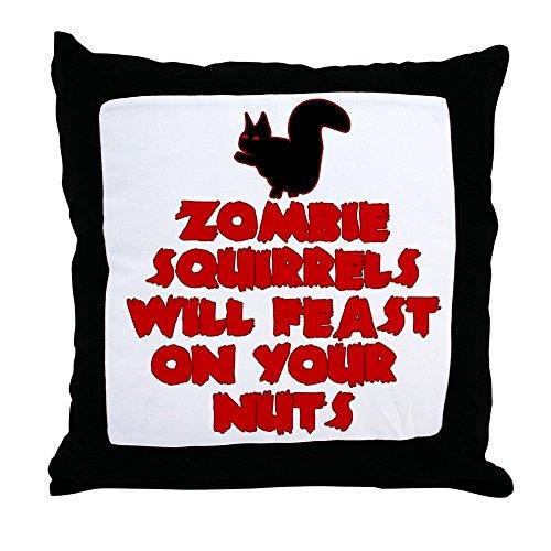 CafePress–Zombies Eichhörnchen–Überwurf Kissen, dekoratives Kissen, Cover + Insert (T-shirts Offensive Erwachsenen)