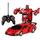 KOBWA Transformation Car Toy for Kids 1:18 Modello RC Car, Trasforma Robot per Auto Un Pulsante Si trasforma in Robot Telecomando elettronico RC Veicoli Regalo per Bambini Ragazzi Giocattoli