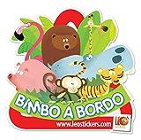 LeoStickers® Bimbo A Bordo - L'originale adesivo per auto firmato LeoStickers®. Extra visibilità anche su vetri oscurati! Bambino a bordo - Baby on board.