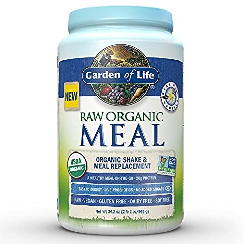 Garden of Life, Raw Meal, Beyond Organic Meal Replacement Formula, Vanilla, 2.5 lbs (1.1 kg)
