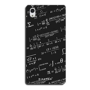 Mozine Black Board Printed Mobile Back Cover For Sony Xperia M4