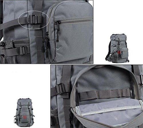 Uomini e donne di alpinismo borse 45L borsa a tracolla borsa da viaggio impermeabile di grande capacità ( Colore : Nero , dimensioni : 45L ) Grigio