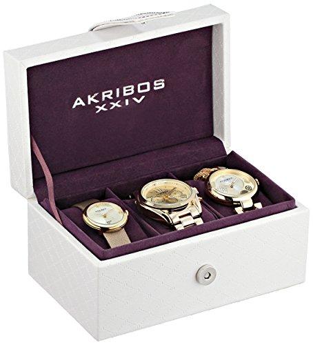Akribos XXIV Armbanduhr AK738YG Analog Schweizer Quarz