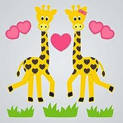 GelGems Giraffe Love Small Bag Gel Clings