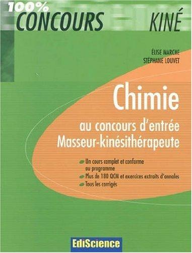 Chimie au concours d'entrée Masseur-kinésithérapeute