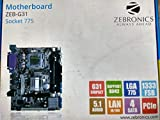 Zebronics Motherboard ZEB-G31 Socket 775+Zebronics Cpu Cooling Fan+Intel Core 2 Duo E7500 Processor 2.93 GHz 3 MB Cache+2GB DDR2 Desktop Ram