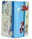 Shagwear Junge-Damen Geldbörse, Large Purse: Verschiedene Farben und Designs: (Strand Postkarte Himmelblau/Beach Post Card)