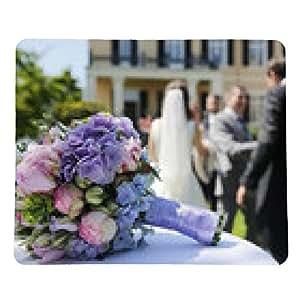 tappetino per mouse Bouquet da sposa, sposi riceve congratulazioni - rettangolare - 23cm x 19 cm