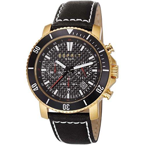 Esprit ES106861002 Barstow - Orologio cronografo da uomo oro e nero