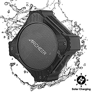 bluetooth Speaker Portable, ARCHEER Waterproof Solar bluetooth Outdoor Speaker 4.2 with 1/4 Screw 20 Hour Playtime Enhanced Bass for Travel Bike