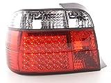 AT71751-lot de 2 feux arrière led pour bMW série 3 e36 compact modèles 1994-1999 (transparent/rouge)