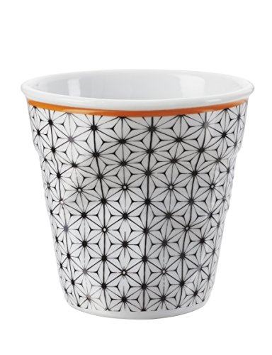 Revol 647649 Froisses Gobelet Espresso Porcelaine Fleur 6 cm - Lot de 6