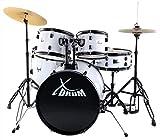 """XDrum Rookie 20"""" Studio Schlagzeug Komplettset White & inkl. Schule + DVD"""