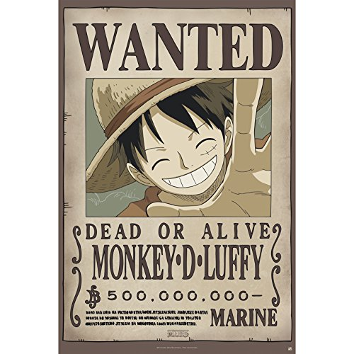 ABYstyle - One Piece - Poster Wanted Luffy New (91.5x61cm)