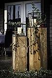 Canett Furniture Blackwood Dekosäule Set Windlichter Gartensäule Groß, Holz Säule, Schwarz / braun, Satz Von 2. (34 x 34 x 134 cm 28 x 28 x 108 cm)