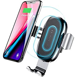 Baseus Qi Wireless Car Charger Mount,Wireless Charger Car Holder, Gravity Car Mount Air Vent Phone Holder, 10w Charge for Samsung Galaxy S8 S8 Plus S7 S7 Edge, Standard Charge for iPhone X/8/8 Plus.
